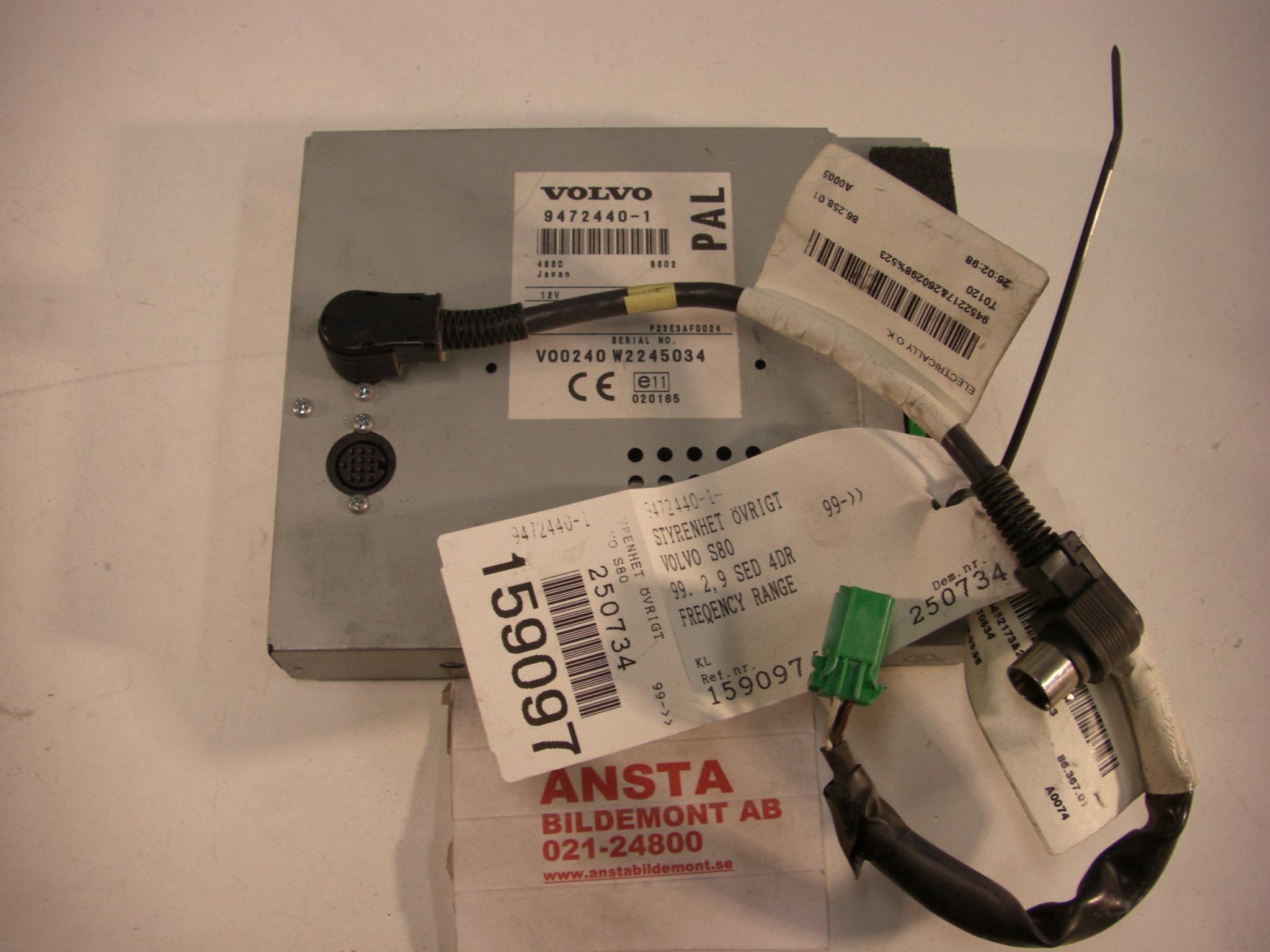 till VOLVO S80 1999-2003 AN 94724401 (0)