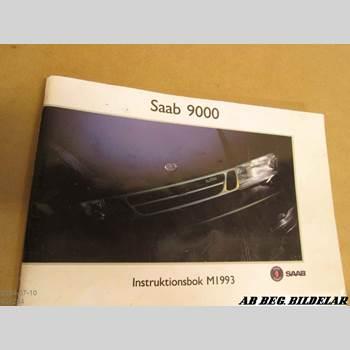 Instruktionsbok SAAB 9000 CS    92-98 2.3 1993
