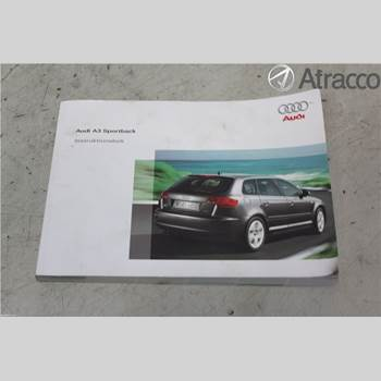 Instruktionsbok AUDI A3/S4 05-13 AUDI A3 (8P) 1.8 TFSI 2007