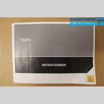 Instruktionsbok RENAULT TRAFIC   02-14 2,5 DCi 145 2011 999104546R