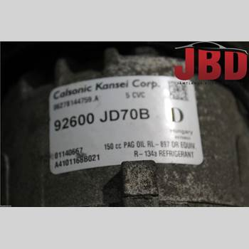 AC Kompressor NISSAN QASHQAI   07-10 NISSAN QASHQAI 2.0 DCI T 2009 92600JD73A