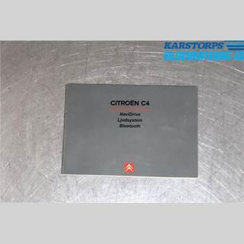 INSTRUKTIONSBOK CITROEN C4 I   05-10 1,6 HDI 2007 ARTB1SU451
