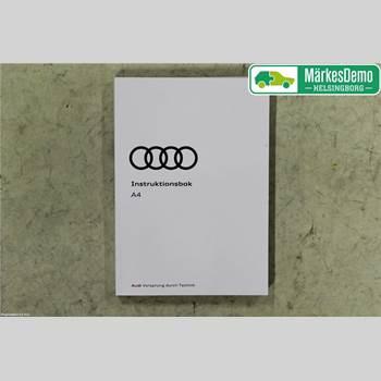 INSTRUKTIONSBOK AUDI A4/S4 16-19 Audi A4-s4 16- 2018
