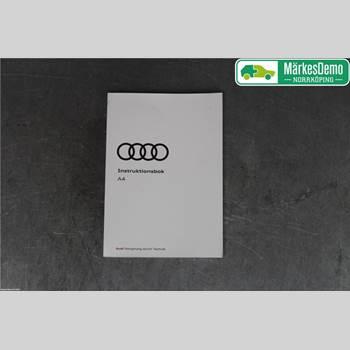 INSTRUKTIONSBOK AUDI A4/S4 16-19 Audi A4-S4 16- 2018 8W0012737AH