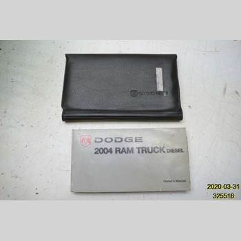 Instruktionsbok DODGE PICK UP RAM  2004
