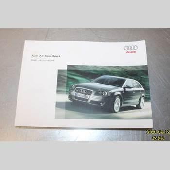 Instruktionsbok AUDI A3/S4 05-13 AUDI A3 1,6 FSI 2005